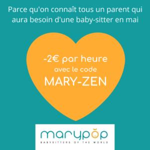 Promotion baby-sitting de mai 2020 - Retournez travailler sereinement ! 1